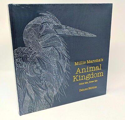 MILLIE MAROTTA'S ANIMAL KINGDOM - Marotta ~ DELUXE Ed. Adult Coloring Book NEW