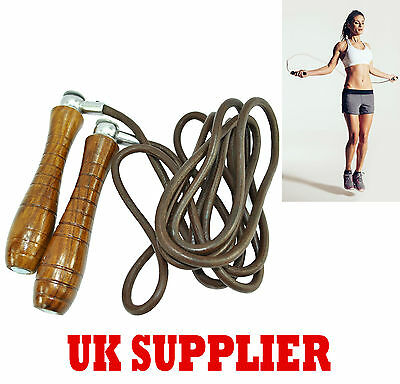 Senshi Japan Boxing Skipping Rope Swivel Adjustable Weighted Fitness Leather Gym