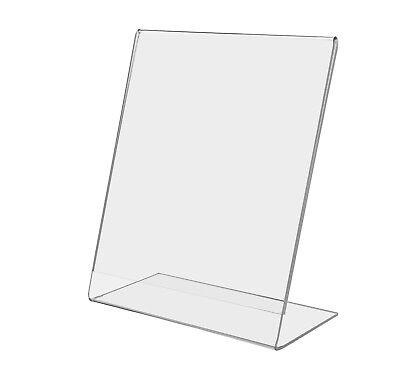 "- 6""W x 8""H Slant Back Acrylic Frame, Table Sign Holder"