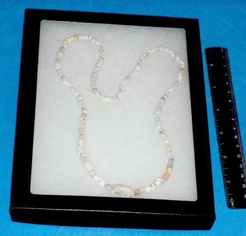 Ancient Hohokam/Anasazi Shell Necklace w/large Beads RESTRUNG  ABA - 13223