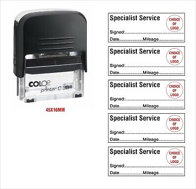 Colop Self Inking Rubber Stamp Specialist Service Kia Seat More View 2-5 Stamps