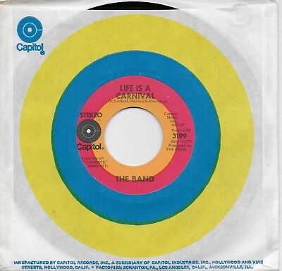 THE BAND  Life Is A Carnival / The Moon Struck One  rare 45 from 1971](Life Is A Carnival)