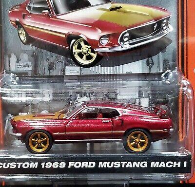 Greenlight Custom 69 1969 Ford Mustang Mach 1 Muscle Car Garage Stock & Custom