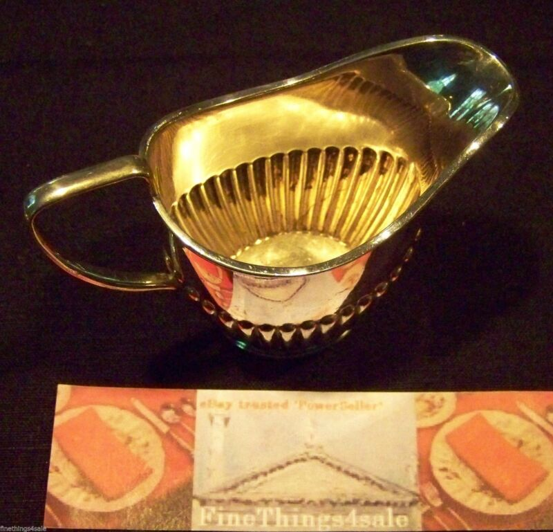VICTORIAN AGE ENGLISH SHEFFIELD SILVER SYRUP PITCHER NEO CLASSIC RIBBED FORM