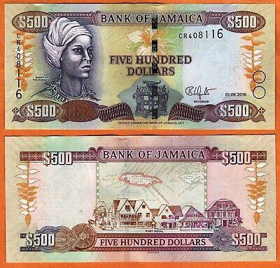 UNC P-85-New 2017 Jamaica $500