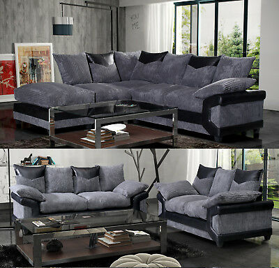 Corner Sofa 3 + 2 Seater Sofa Fabric Brown-Coffee Camila Sofa