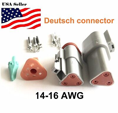 3-pin Deutsch Dt03 Engine Gearbox Waterproof Electrical Connector