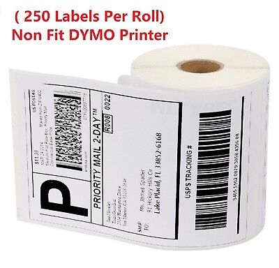 250 Labels 1 Roll 4x6 Label Zebra 2844 Eltron Direct Thermal Shipping Printer
