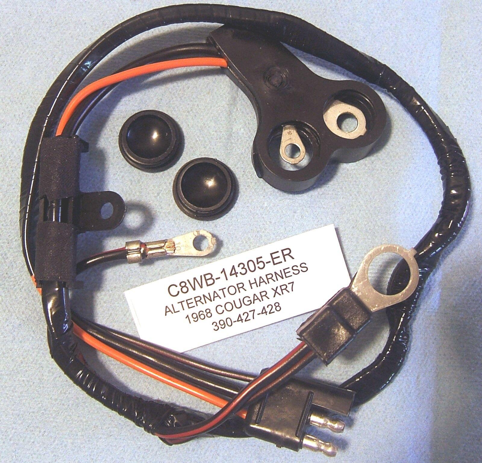 """C80) 1968 Ford Mercury Cougar Xr7 390-427-428 """"alternator"""