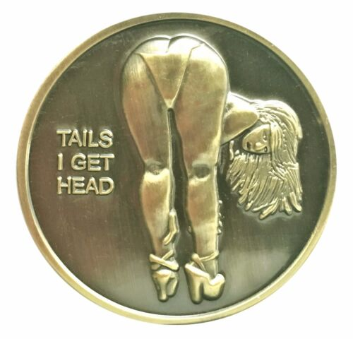 Bikini Pin Up Babe Good Luck Token Head Tail Challenge Coin US SELLER FAST SHIP