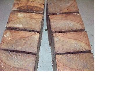HICKORY BOWL BLANKS LATHE TURNING BLOCKS WOOD LOT OF 8- - Blocks Of Wood