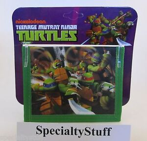 NEW-TMNT-NON-WOVEN-CHILDS-BiFOLD-WALLET-2-SIDED-TEENAGE-MUTANT-NINJA-TURTLES-MM