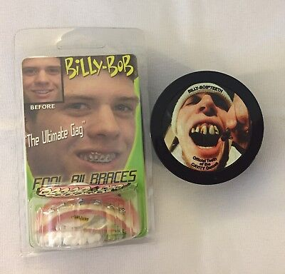 races Hollywood Quality Costume Teeth Fit Beads Case NEW (Billy Bob Braces)