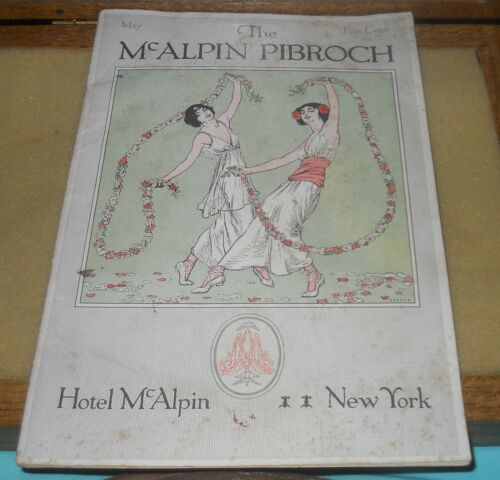1914 The McAlpin Pibroch~Hotel McAlpin~New York Souvenir Booklet~36 pages