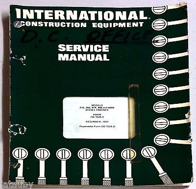 1977 International Construction Equipment Service Manual Diesel Engines