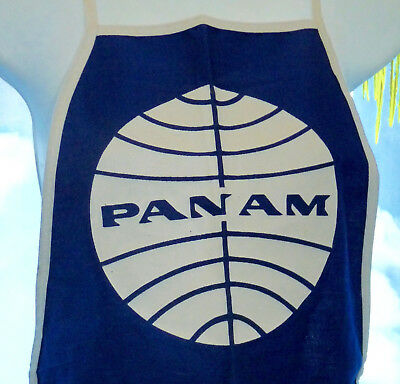 VINTAGE PAN AM AIRLINES APRON PAN AMERICAN AIRLINES LOGO NOS