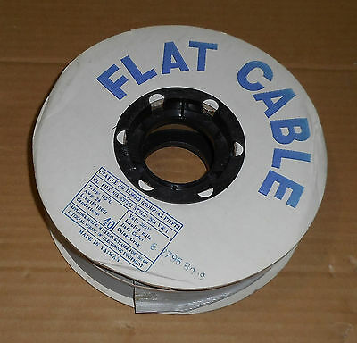 Flat Wire Cable - Length 100ft Awg 28 Conductors 40 Volts300 Temp 105c