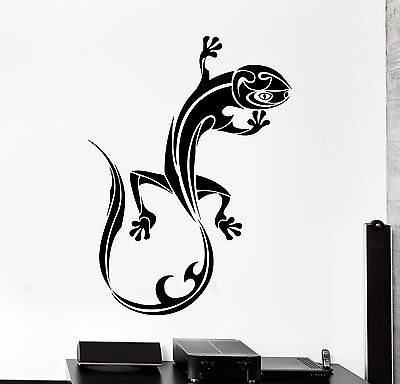 - Wall Decal Animal Lizard Gecko Ornament Tribal Mural Vinyl Decal (z3319)