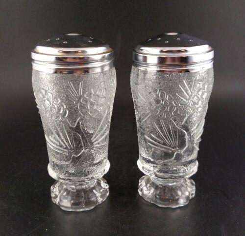 Vintage Tiara Ponderosa Pine Needle & Pinecone Salt and Pepper Glass Shakers