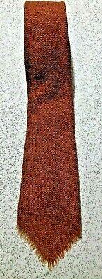 New 1930s Mens Fashion Ties VINTAGE 1930's-40'S 100% WOOL SHETLAND SCOTTISH FRINGED 3