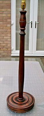 VINTAGE CARVED WOODEN HALF STANDARD FLOOR LAMP
