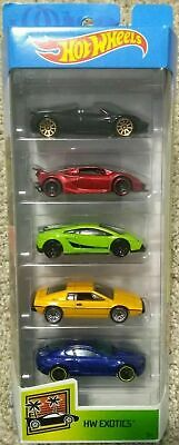 Hot Wheels 2019 HW EXOTICS 5 Pack  Pagani, Lamborghini Sesto Lotus DIECAST NEW