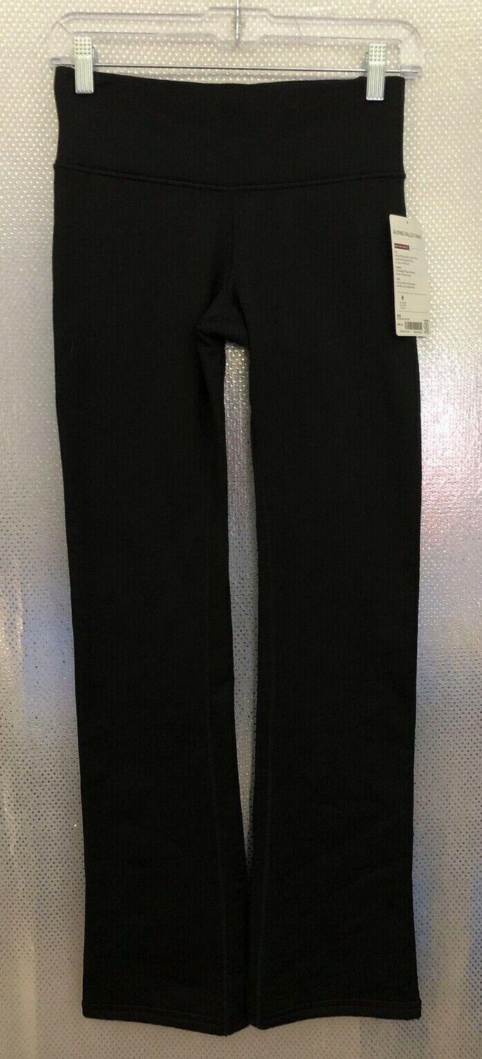 Athleta Women Sz XS Black Fleece Warm Zip Back Pocket Alpine Valley Pant NWT