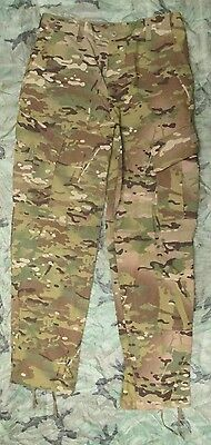NEW GENUINE US ARMY MULTICAM FLAME RESISTANT COMBAT TROUSERS. SMALL-LONG. CRYE.