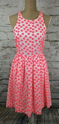 J Crew Embroidered Floral Racer back Cotton Dress sz 4 Subtly sexy and ladylike!