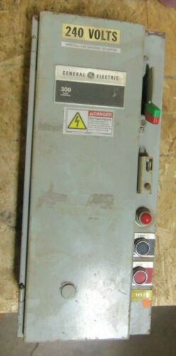 Nice GE Combination Starter Size 30 Amp Type 12 230V Coil