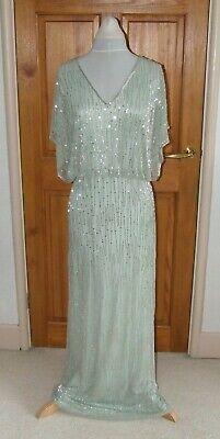 JENNY PACKHAM TILDA BEAD EMBELLISHED MAXI DRESS UK14 NEW