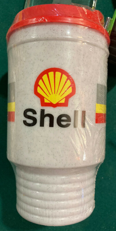 * NEW NEVER USED* Aladdin SHELL GAS & OIL Insulated Travel Drink Coffee Mug Cup