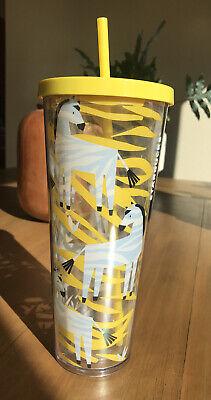 Starbucks Venti Zebra Tumbler 24 Oz-Cold Beverages Cup -RARE!