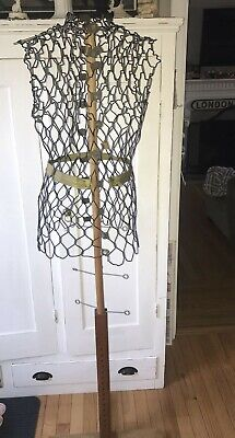 Vtg My Double Dress Form Adjustable Metal With Stand And Clips