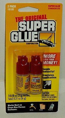 The Original Super Glue 2 Bottles Per Package Easy Application Precision Bottle