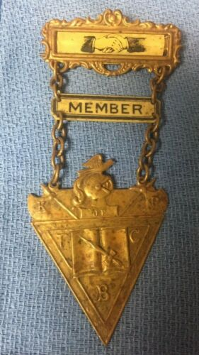 Vintage Knights of Pythias Member Pin/Badge 5 Inches Long