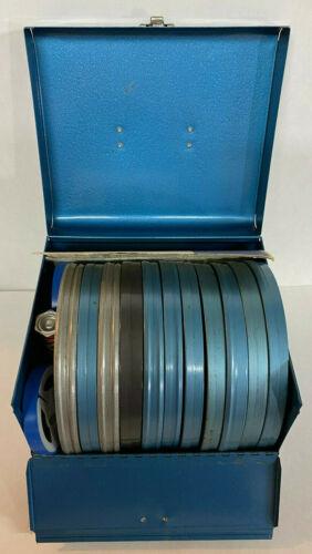 Vintage 8mm Film Reels Lot in Metal Case 1960