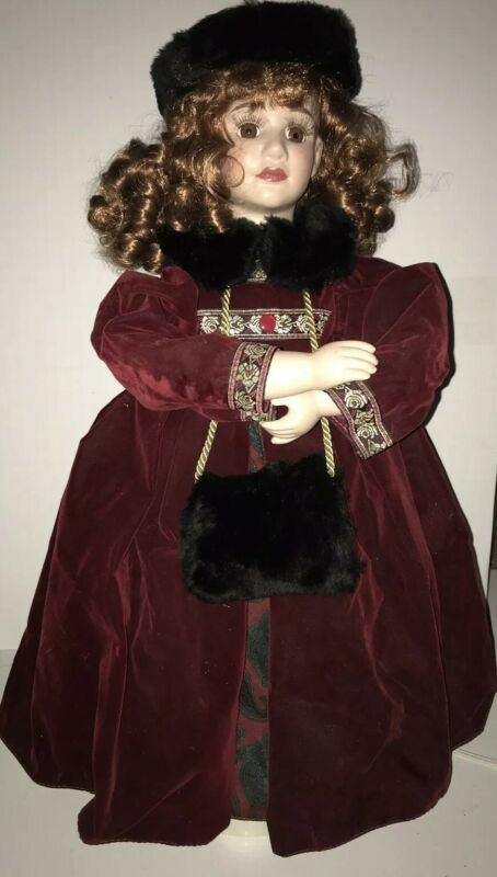 "Vintage Victorian Girl Animated Christmas 24"" Decoration Motion Doll"