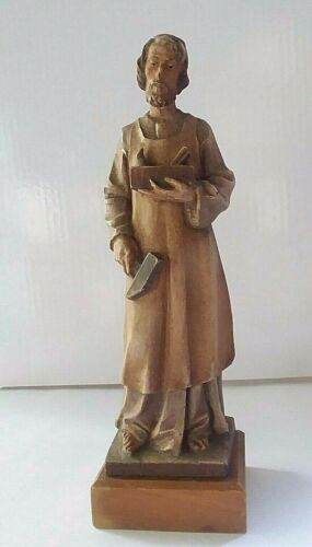 Hand Carved Wood Toriart Italy Figure
