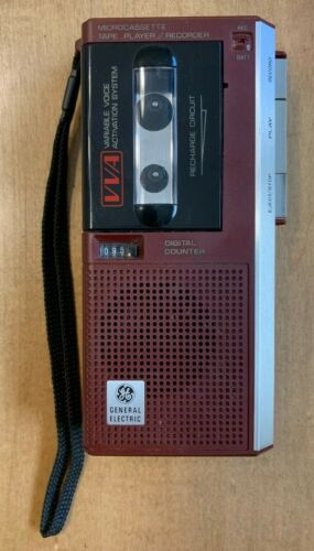 General Electric - VVA Microcassette Tape Player/Recorder