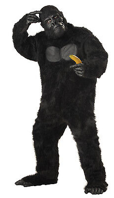 Adult Black Gorilla Ape King Kong Sasquatch Full Suit Costume Standard (Gorilla Suit Costume)