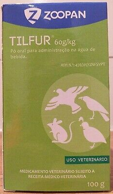 Tilfur 100g Tilosin %6 CRD respiratory problems pigeons birds hamsters g.pig rab