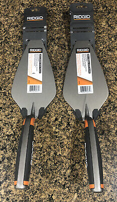 2x Ridgid 10 In. Fully Forged London Brick Cement Trowel Cm1001 New