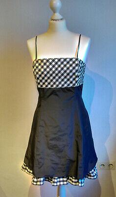 Abendkleid kurz, Cocktailkleid, Partykleid Größe 38 schwarz-weiß, kariert, Taft online kaufen