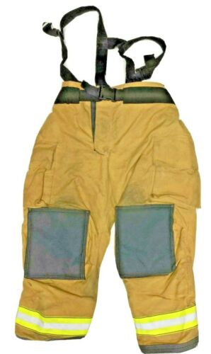 46x30 Globe Gxtreme Brown Firefighter Turnout Pants With Suspenders 5/2011 P1250