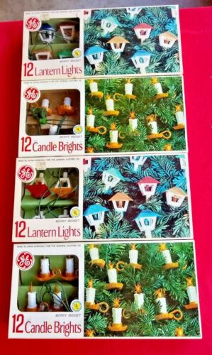 4 sets GE Merry Bright Christmas Lights in Original Boxes
