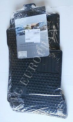 Mercedes-Benz W204 C-Class Coupe Genuine All Season Rubber Floor Mat Set NEW