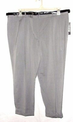 Women's Apt. 9 Ava Fit Pleated Gray Dress Pants - Size  18 - NWT