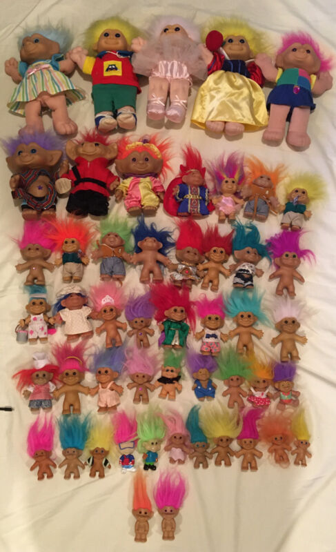 Lot Of 50 Troll Dolls