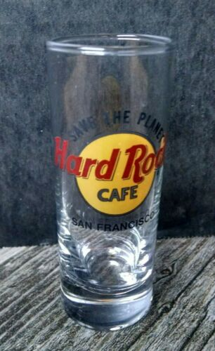 "Hard Rock Cafe Double Shot Glass 4"" San Francisco Save the Planet"